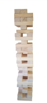 giant jenga bag with white background